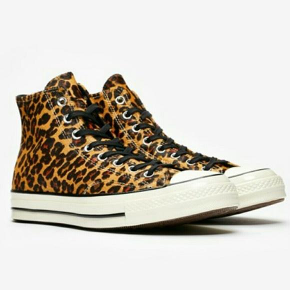94191ce2501 Converse Shoes | Chuck 70s Hi Cheetah | Poshmark
